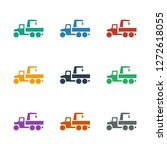 truck with hook icon white... | Shutterstock .eps vector #1272618055