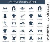 stylish icons. trendy 25... | Shutterstock .eps vector #1272618115