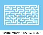 white rectangular labyrinth....   Shutterstock .eps vector #1272621832