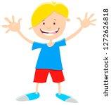 cartoon illustration of happy... | Shutterstock .eps vector #1272626818