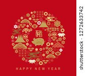 happy chinese new 2019 year ...   Shutterstock .eps vector #1272633742