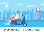 fast and free scooter delivery... | Shutterstock .eps vector #1272637408