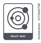milky way icon vector on white... | Shutterstock .eps vector #1272643738