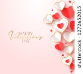 happy valentine day greeting...   Shutterstock .eps vector #1272652015