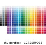 color palette color shade chart ... | Shutterstock .eps vector #1272659038
