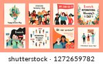 international womens day.... | Shutterstock .eps vector #1272659782