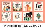 international womens day.... | Shutterstock .eps vector #1272659785