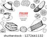 italian dessert vector... | Shutterstock .eps vector #1272661132