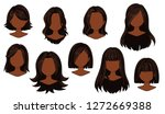 beautiful hairstyle woman... | Shutterstock .eps vector #1272669388