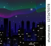 aurora. northern lights over...   Shutterstock .eps vector #1272670378