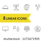 service icons set with iot ...