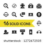 support icons set with checkbox ...
