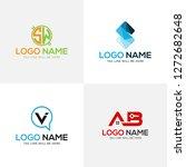 logo design set templates | Shutterstock .eps vector #1272682648