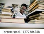 cheerful dark skinned male... | Shutterstock . vector #1272686368
