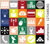 set of 25 business icons  high... | Shutterstock .eps vector #1272688282