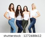 lifestyle and people concept  ... | Shutterstock . vector #1272688612