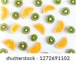 Pattern With Oranges And Kiwi...