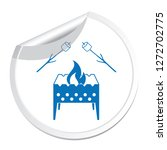 brazier and zephyr icon. vector ... | Shutterstock .eps vector #1272702775