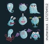 cute cartoon vector monster...   Shutterstock .eps vector #1272704512
