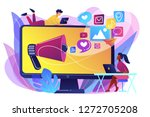 marketing specialists and... | Shutterstock .eps vector #1272705208