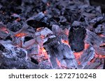 hot pieces of coal and the... | Shutterstock . vector #1272710248