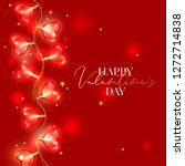 valentine day background with... | Shutterstock .eps vector #1272714838