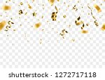 golden confetti isolated on... | Shutterstock .eps vector #1272717118