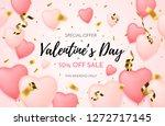 valentines day sale background... | Shutterstock .eps vector #1272717145