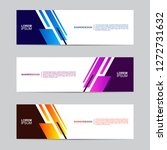 abstract banner collection with ... | Shutterstock .eps vector #1272731632