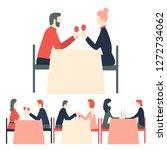 happy valentine's day. romantic ...   Shutterstock .eps vector #1272734062