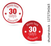 money back guarantee thirty days | Shutterstock .eps vector #1272734365