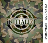 initialize on camo texture | Shutterstock .eps vector #1272735565