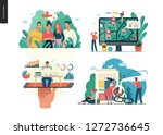 business series set  color 1 ... | Shutterstock .eps vector #1272736645