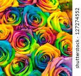 Bouquet Of Colored Roses ...