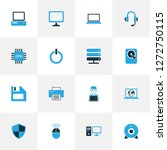 computer icons colored set with ...   Shutterstock .eps vector #1272750115