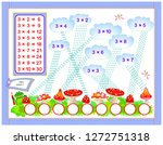 multiplication table by 3 for... | Shutterstock .eps vector #1272751318