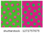 funny dots of irregular shape... | Shutterstock .eps vector #1272757075
