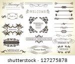 calligraphic design elements... | Shutterstock .eps vector #127275878