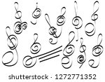 set of hand drawn scribble ... | Shutterstock .eps vector #1272771352