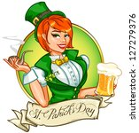 Beautiful Leprechaun Girl With...