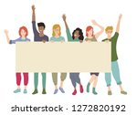 group of young people holding...   Shutterstock .eps vector #1272820192