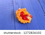 bitter melon on the board  | Shutterstock . vector #1272826102