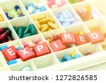 oral medicine with expiration... | Shutterstock . vector #1272826585