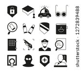 police and justice icons  | Shutterstock .eps vector #1272839488