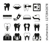 dental care icons | Shutterstock .eps vector #1272842878