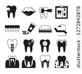 dental care icons | Shutterstock .eps vector #1272842878