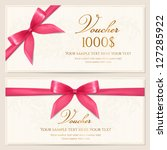voucher template with floral... | Shutterstock .eps vector #127285922