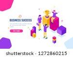 team spirit and teamwork... | Shutterstock .eps vector #1272860215