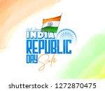 republic day india celebration... | Shutterstock .eps vector #1272870475