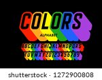 rainbow flag colors font ... | Shutterstock .eps vector #1272900808